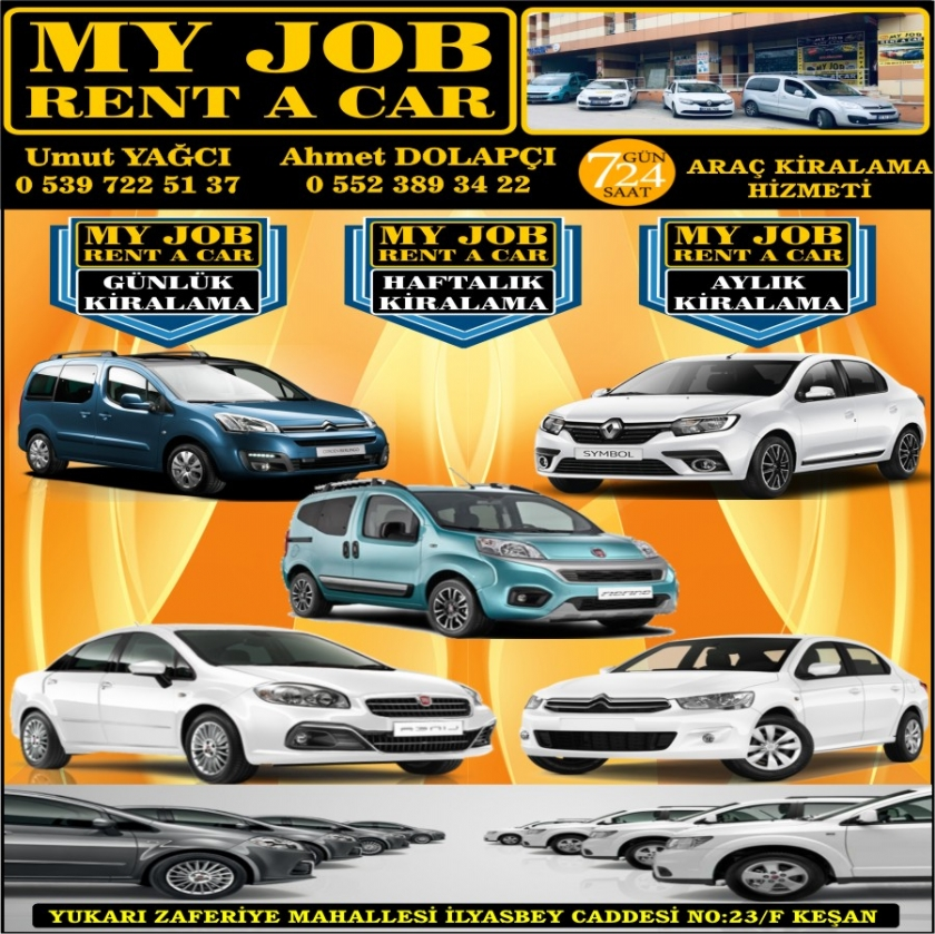 MY JOB RENT A CAR KEŞAN